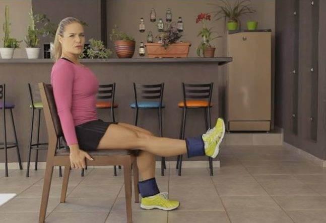 Exercícios com Caneleira